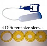 Yellow 4 Different Size Sleeves Penis Enlargement Pump