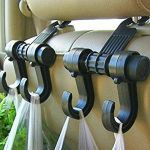 Car Vehicle Seat Headrest Bag Hanger Hook Holder Black