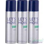 Pack Of 3 Benetton Lets Move Deodorant Spray - 200 Ml (for Men)