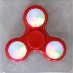 LED Light Red Fidget Hand Spinner Stress Finger Game Desk Kids Toy