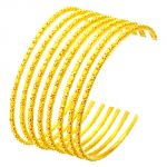 22crt Gold Plated Bangle Set Of 6