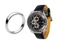 Stylish Tager Leather Wrist Watch With Band Ring For Men