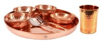 Pure Copper 8 Piece Dinner Set Restaurant Hotel Dinner Hotel Home Kitchen