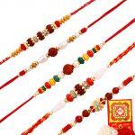 Rakshabandhan Auspicious Rudraksha N Beads Rakhi Set