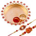 Rakshabandhan Gorgeous Rakhi Tikka Thali With Trendy Rakhis