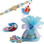 Rakshabandhan Rakhi Chocolate Hamper With Ravishing Lumba Rakhi Set