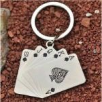 Dh Playing Cards Shape Key Chain