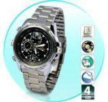 4GB Waterproof Mini HD Steel Wrist Watch Spy Camera Hidden Video Camcorder