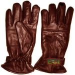 Brown Pure Leather Gloves, Stylish Gents Warm Padded Glove Pair