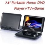 Portable Evd/dvd With 3d 7.8 Inch LED TV Tuner USB Card Reader Car Charger