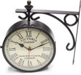 Artondoor 8 Inch Station Double Side Analog Wall Clock