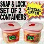 2pcs Air Tight Containers, Snap And Lock Storage