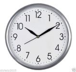 "Moon Silver 10"" Inches Wall Clock Simple Descent For Home & Office -wc503"