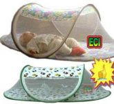 Eci Baby Mosquito Net With Attached Bedsheet, Zero Insect Enclosure, Zipper