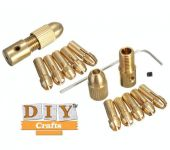 Drill Chuck Set Diycrafts8pcs 0.5-3mm Small Electricdrill Bit Collet Micro