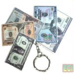 2 Currency Keychains Of Usa American Dollars Notes