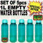 5pcs 1l Empty Refrigerator Drinking Water Bottles