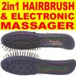 2in1 Hair Brush & Electronic Massager