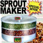2 Level Sprout Maker For Hygienic Sprouts