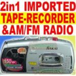 Taperecorder With FM AM Radio 3in1 Tape Recorder