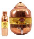 Copper Water Pot Tank 10 Ltr, 1 Leak Proof Joint Free Water Bottle 900 Ml