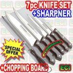 7pcs Kitchen Knife Set With Chopping Board