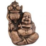 Feng Shui Heavy Premium 9 Inches Laughing Buddha In Copper Finish
