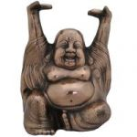 Feng Shui Heavy 9 Inches Laughing Buddha In Copper Finish