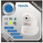 Wireless WiFi IP Camera White Tenvis Iprobot3 H.264 Cctv IR Security Netw