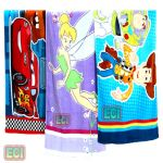 3 Premium Kids Beach Towels, Xxl Cartoon Cotton Babies Children Bath Towel