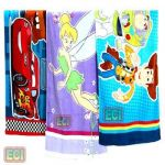 3 Premium Kids Beach Towels, Xxl Cartoon Cotton Babies Children Bath Towel