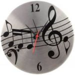 Jewel Fuel Steel Musical Note Analog 25 Cm Dia Wall Clock