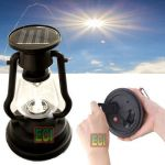 Eci Solar Powered Lantern Chargeable Emergency Camping Light Lamp
