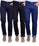 Masterly Weft Trendy Pack Of 3 Mens Cotton Jeans - (code -d-jen-3-2-p)