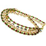 Gold Polish Anklet Payal, Pair Of Ladies Anklets