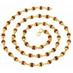 Mahi Gold Plated Rudraksh Mala Chain 24 Inches Long For Men Cn1100216g