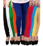 "Leggings For Women, Girls (pack Of 10) - Cotton Lycra (waist 28"" To 33""inch)"