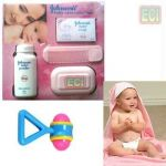 Johnson Baby Care Gift Set & Hooded Towel & Rattle