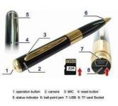 Hidden Spy Pen Camera Expandable 4 GB