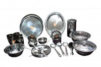 Dhanlaxmi Stainless Steel 51 PCs Dinner Set