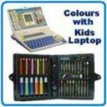 42 PCs Coloring Set With Educational Laptop