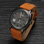 Curren Military Series Brown Sports Analog Watch For Men
