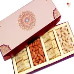 Diwali Dryfruits - Long Fusion Cashews,almonds, Chocolates Box Hamper