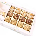 Diwali Gifts Sweets- Assorted Roasted Laddoos In White Box
