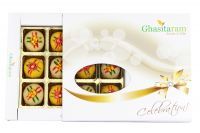 Diwali Gifts Sweets-ghasitarams Sweets Assorted Mawa Peda 12 PCs White Box00gms