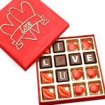 Theme Chocolates- I Love You In Red Valentines Box