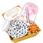 Ghasitaram Gifts- Rakhi Gifts For Sisters- Sisters Basket Hamper With Kaju Katli