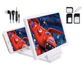 EDGE Plus Mobile 3d Enlarged Screen,earphones And Sim Card Adapter Combo Set