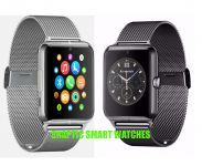 Snaptic Limited Edition Gt08 Metal Strap GSM Enabled Tf Card Hidden Camera Smart Watch For Ios/android - Assorted Color