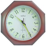 32cm Antique Look Wood Crafts Wooden Wall Radium Clock Without Alarm - 108